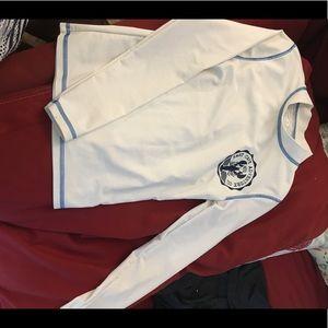 Boys white Cherokee M swim shirt